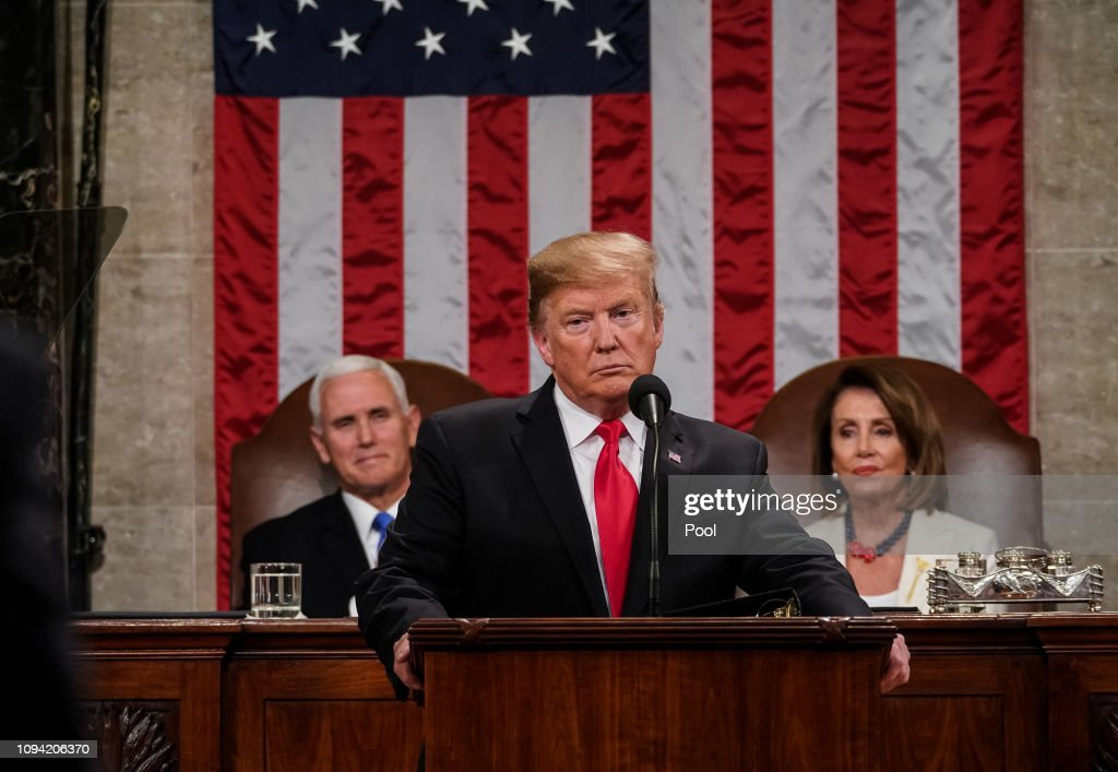 President Trump Delivers State Of The Union Address To Joint Session Of Congress : ニュース写真