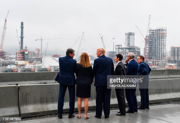 President Donald Trump , with US Energy Secretary Rick Perry , Shell Oil company President Gretchen Watkins and Shell Pennsylvania Vice President...