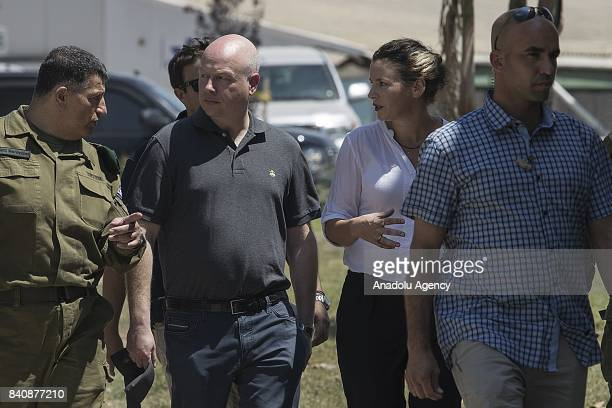 President Donald Trump's Assistant and Special Envoy for International Negotiations Jason Greenblatt visits Nahal Oz military base near the Gaza...