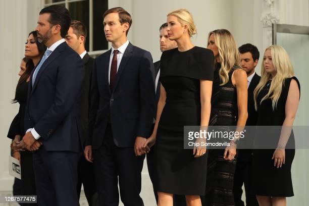 President Donald Trump's children and their partners, Kimberly Guilfoyle, Donald Trump Jr., Jared Kushner, Eric Trump, Ivanka Trump, Lara Trump,...