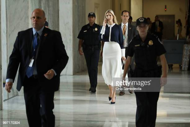 S President Donald Trump's daughter Ivanka Trump who also serves as White House assistant to the president walks through the halls of the Rayburn...