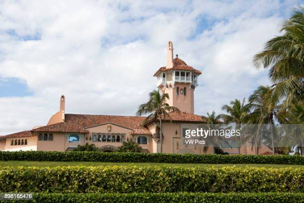 President Donald Trumps Florida White House MaraLago in the exclusive town of Palm Beach The mansion was built by cereal heiress Marjorie...