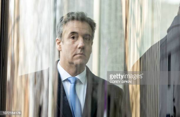 US President Donald Trumps former attorney Michael Cohen arrives at US Federal Court in New York on December 12 where he is expected to be sentenced...