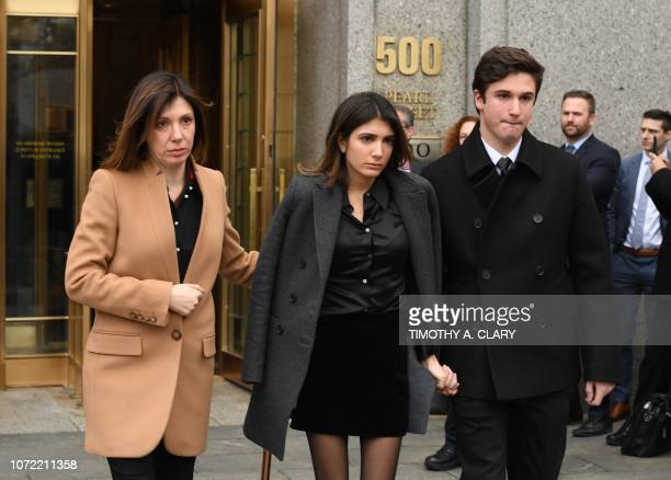 US President Donald Trumps former attorney Michael Cohen's daughter Samantha Blake Cohen wife Laura Shusterman and son Jake Cohen leave US Federal...