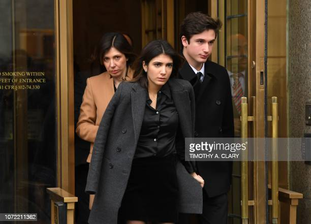 US President Donald Trumps former attorney Michael Cohen's daughter Samantha Blake Cohen wife Laura ShustermanL and son Jake Cohen leave US Federal...