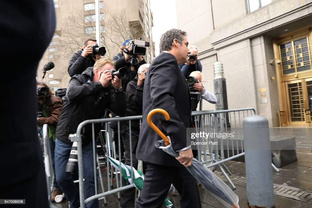 Trump's Personal Lawyer Michael Cohen Appears For Court Hearing Related To FBI Raid On His Hotel Room And Office : News Photo