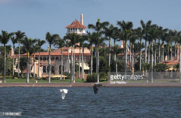 President Donald Trump's Mar-a-Lago resort is seen on November 1, 2019 in Palm Beach, Florida. President Trump announced that he will be moving from...