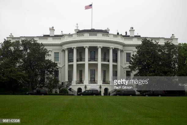 President Donald Trump's motorcade arrives at the White House on May 13 2018 in Washington DC