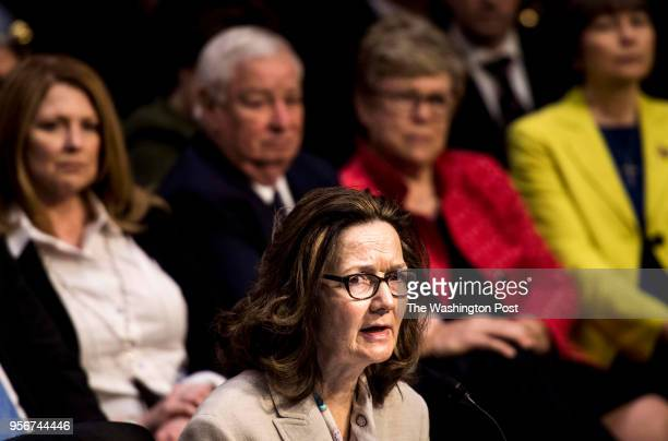 WASHINGTON DC President Donald Trump's nominee and career CIA professional Gina Haspel testifies before the Senate Intelligence Committee for...