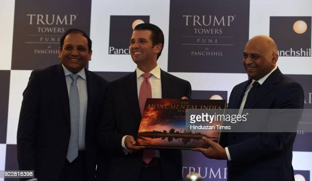 President Donald Trump's son and Businessman Donald Trump Junior with Panchshil Realty's chairman Atul Chordia and his brother and director Sagar...