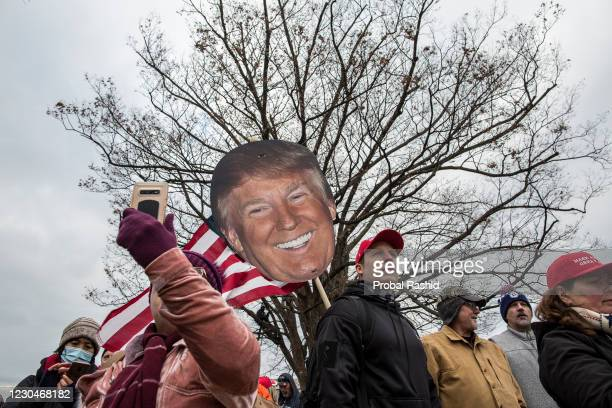 President Donald Trumps supporters gather near the Capitol Building. Pro-Trump rioters stormed the US Capitol as lawmakers were set to sign off...