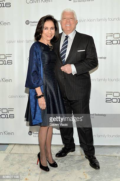 President Dr Joyce F Brown and designer Dennis Basso attend the 2016 Future of Fashion Runway Show at The Fashion Institute of Technology on May 5...