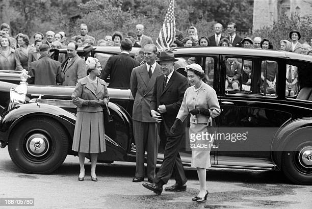 President Dwight Eisenhower At The Balmoral Castle Ecosse le 18 Août 1959 lors de la visite officielle du président américain Dwight David EISENHOWER...