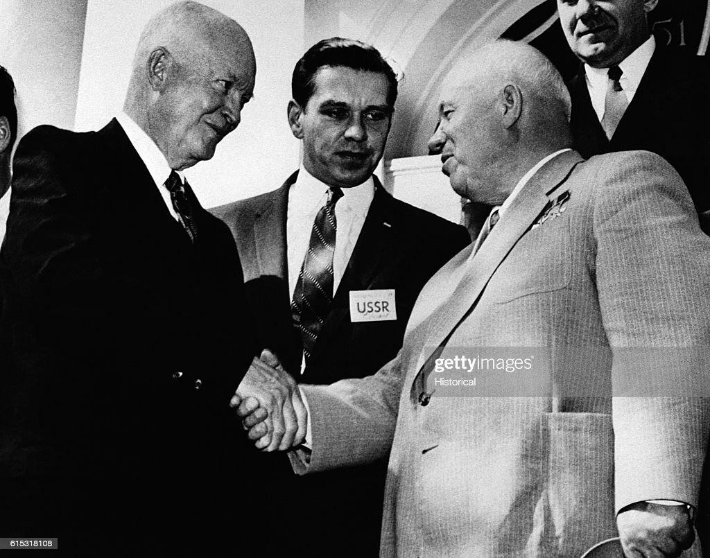 President Eisenhower and Nikita Khrushchev