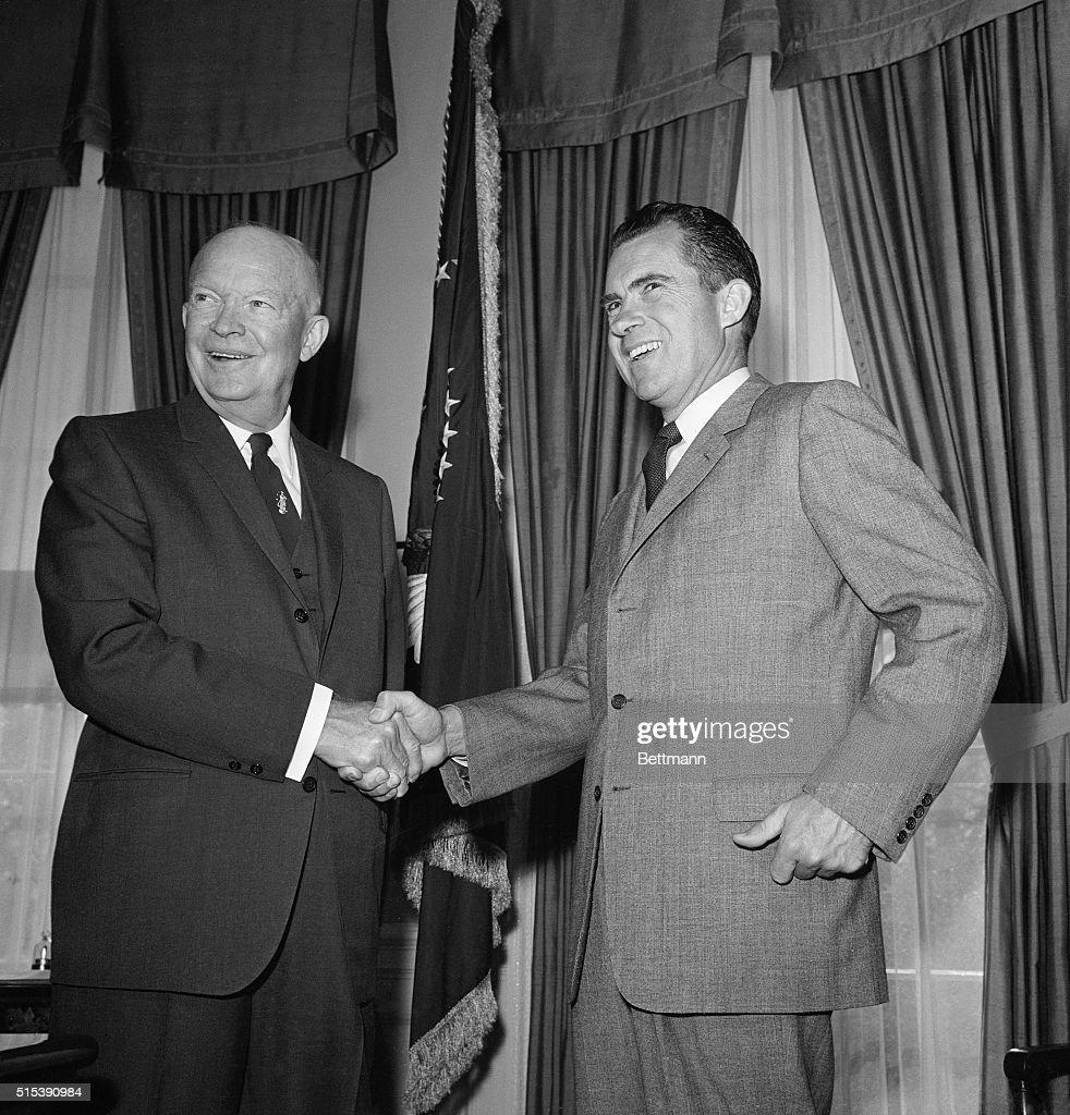 Who Was Richard Nixon Vice President: President Eisenhower And Vice President Richard Nixon Are