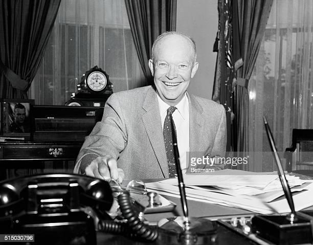 President Eisenhower back at work after a slight illness