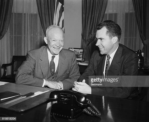President Eisenhower left happily today from Washington for his Colorado vacation a satchel full of bills dumped on Mr Eisenhower desk in the final...