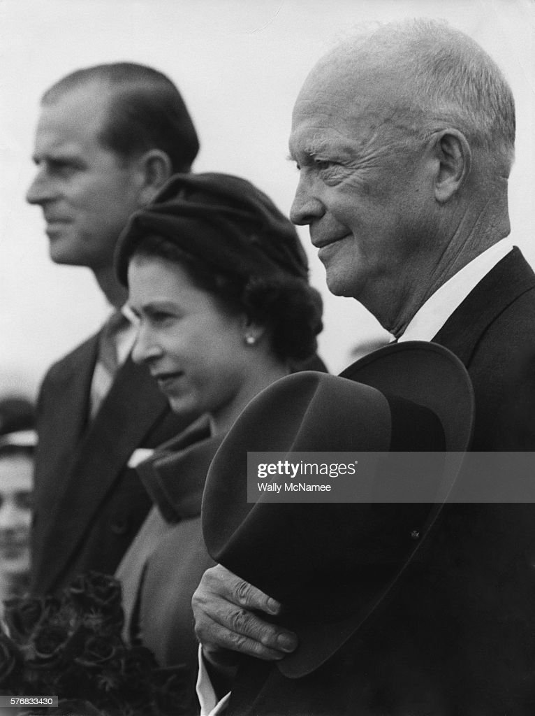 President Eisenhower with Queen Elizabeth and Prince Philip