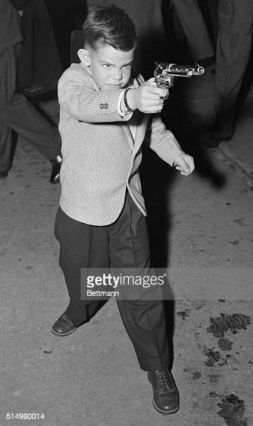 President Eisenhower's grandson, Dwight David Eisenhower II seems to have caught the spirit of the Old West as he arrives at Salina November 10....