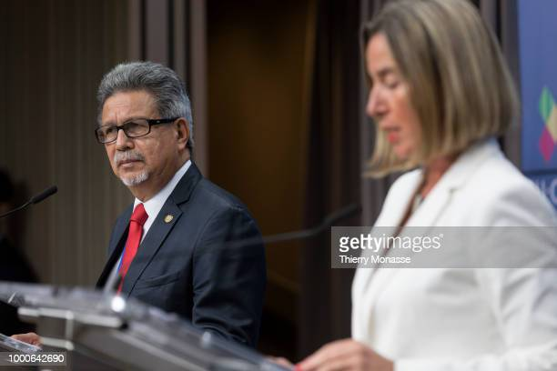 President El Salvador Foreign minister Castaneda Magana Carlos Alfredo and the EU High Representative of the Union for Foreign Affairs and Security...