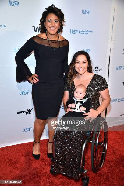 President Elana Meyers Taylor and Alana Nichols Basketball Canoeing Skiing and son attend The Women's Sports Foundation's 40th Annual Salute to Women...