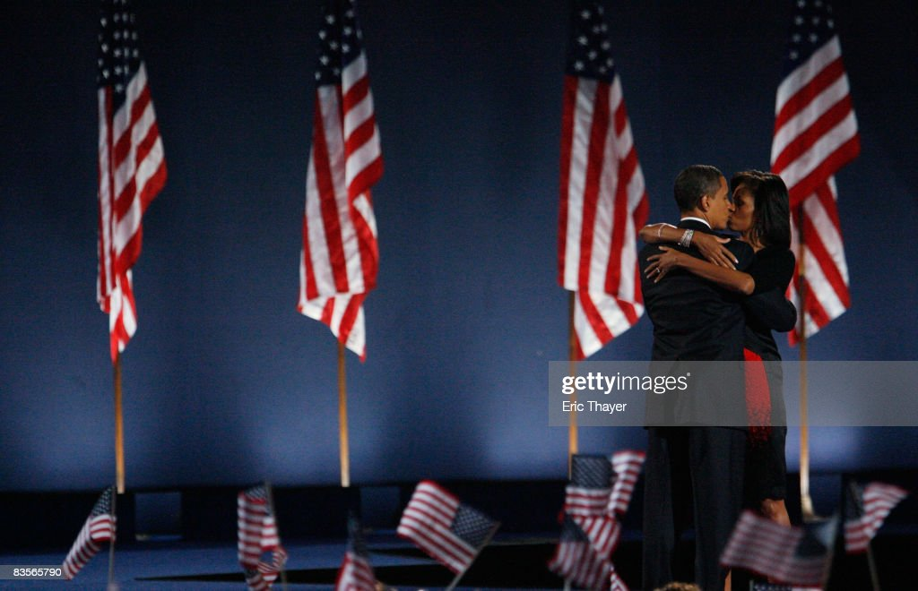 Barack Obama Holds Election Night Gathering In Chicago's Grant Park : News Photo