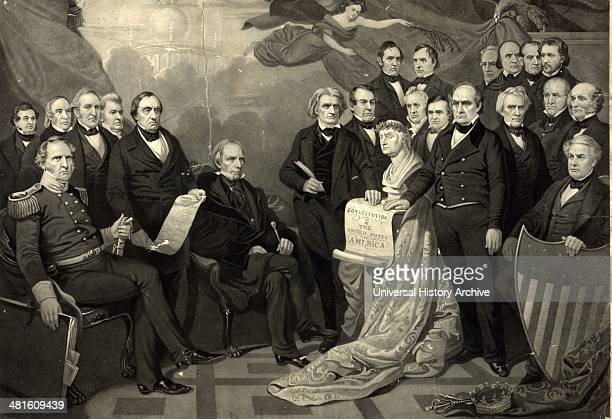 President elect Lincoln and President James Buchanan admits cheering crowd before Lincoln's inauguration 1861 Library of Congress