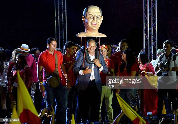 President elected Luis Guillermo Solis meets with his supporters after victory in the runoff election in San Jose April 6 2014 Political centrist...