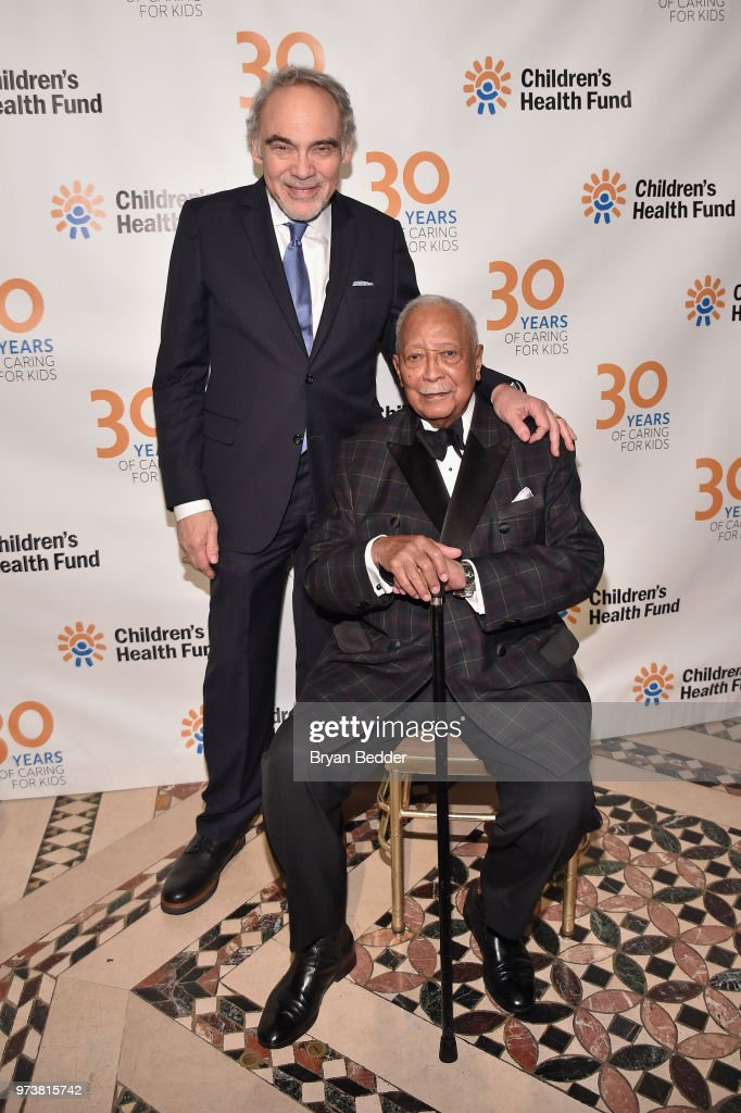 President Emeritus & Co-Founder, Children's Health Fund Irwin Redlener, MD (L) and Former Mayor of New York City David Dinkins attend the Children's Health Fund 2018 Annual Benefit at Cipriani 42nd Street on June 13, 2018 in New York City.