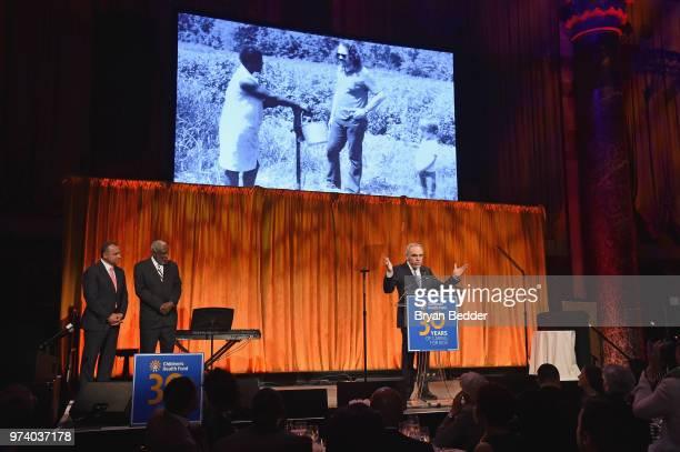 President Emeritus CoFounder Children's Health Fund Irwin Redlener MD speaks onstage during the Children's Health Fund 2018 Annual Benefit at...