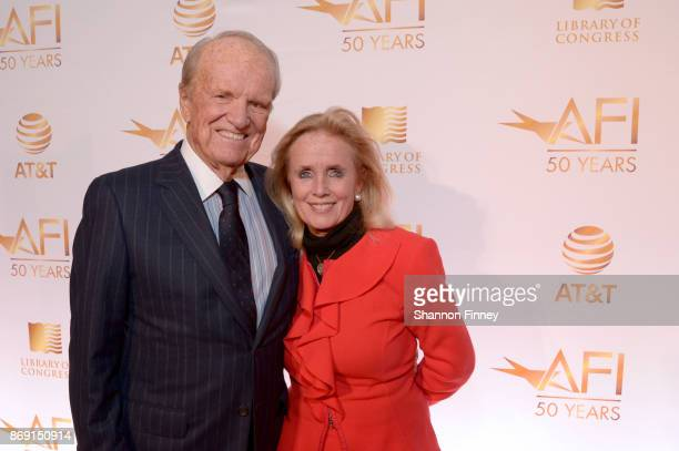 President Emeritus George Stevens, Jr., and Congresswoman Debbie Dingell attend the AFI 50th Anniversary Gala at The Library of Congress on November...
