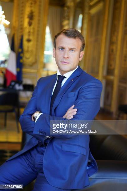 FRA: Emmanuel Macron, Paris Match Issue 3716, July 26, 2020