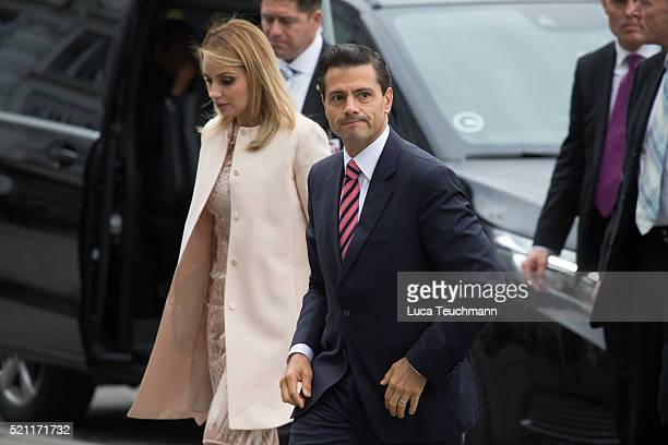 President Enrique Pena Nieto and his wife Angelica Rivera attends visit to Tjornegaard School during the State visit of the President of The United...
