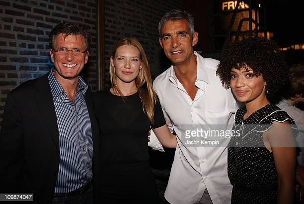 President Entertainment FBC Kevin Reilly actress Anna Torv Chairmen Entertainment FBC Peter Ligouri and actress Jasika Nicole attend Fringe New York...