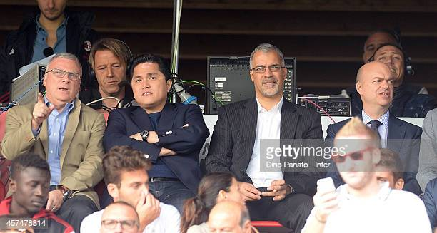 President Erick Thohir and Managing Director Marco Fassone look on during the juvenile match between AC Mlooks onilan and FC Internazionale on...