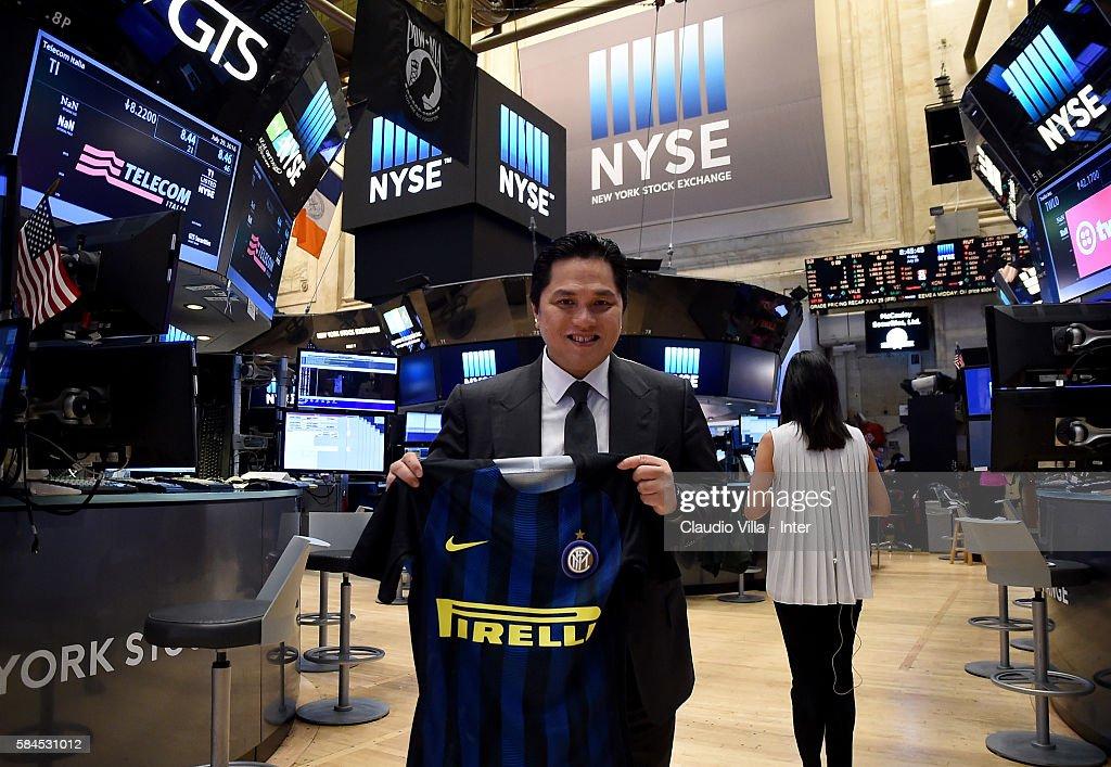 President of FC Internazionale Erick Thohir Visits New York Stock Exchange