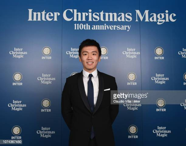 President FC Internazionale Steven Zhang Kangyang poses for a photo during the FC Internazionale Xmas Dinner on December 18 2018 in Milan Italy