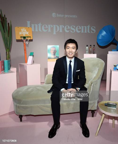 President FC Internazionale Steven Zhang Kangyang poses for a photo during the FC Internazionale Xmas Dinner on December 18, 2018 in Milan, Italy.