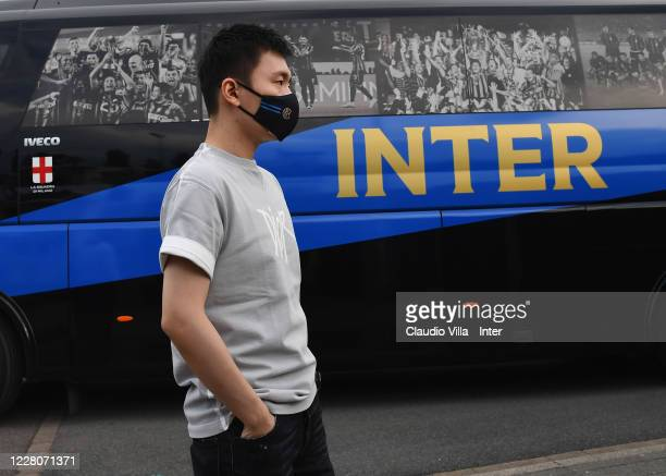 President FC Internazionale Steven Zhang Kangyang poses for a photo before a training session on August 16, 2020 in Duesseldorf, Germany.
