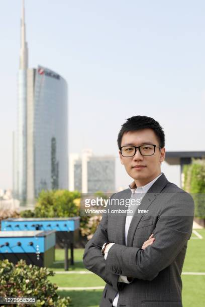 President FC Internazionale Steven Zhang Kangyang poses for a picture on September 16, 2020 in Milan, Italy.