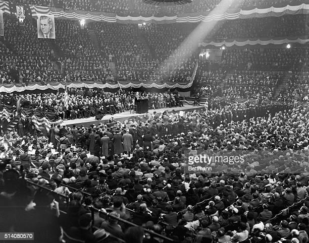 President FDR Speaking in Madison Square Garden