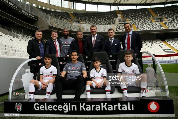 President Fikret Orman head coach Senol Gunes Executive Board Spokesperson and Executive Board Member in Charge of Youth System Metin Albayrak...