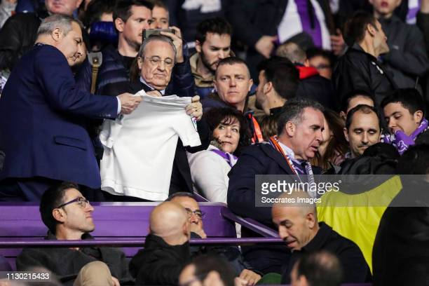president Florentino Perez of Real Madrid during the La Liga Santander match between Real Valladolid v Real Madrid on March 10 2019