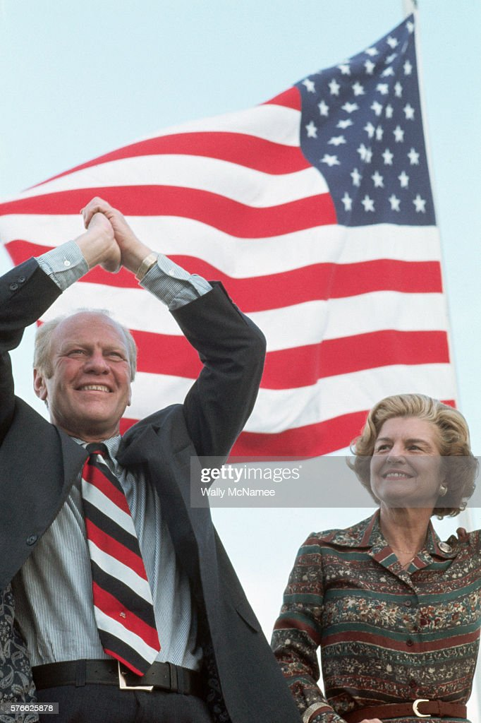 President Ford and the First Lady campaign for the presidential election on a boat on the Mississippi River.
