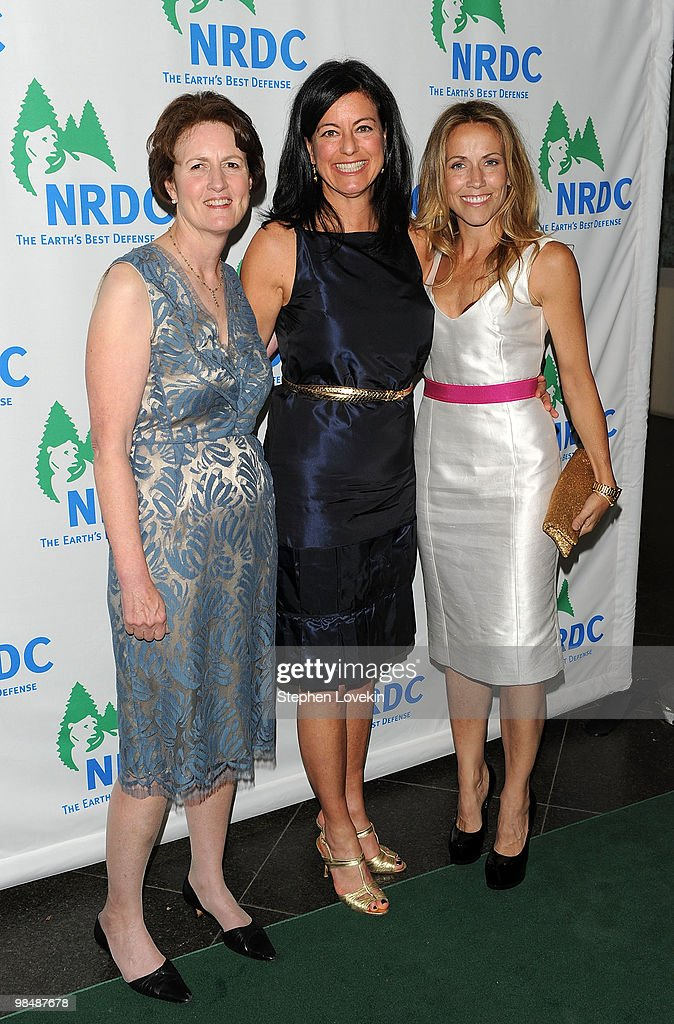 President Frances Beinecke, activist Laurie David, and singer/songwriter Sheryl Crow attend the Natural Resources Defense Council's 12th annual 'Forces for Nature' gala benefit at Pier Sixty at Chelsea Piers on April 15, 2010 in New York City.