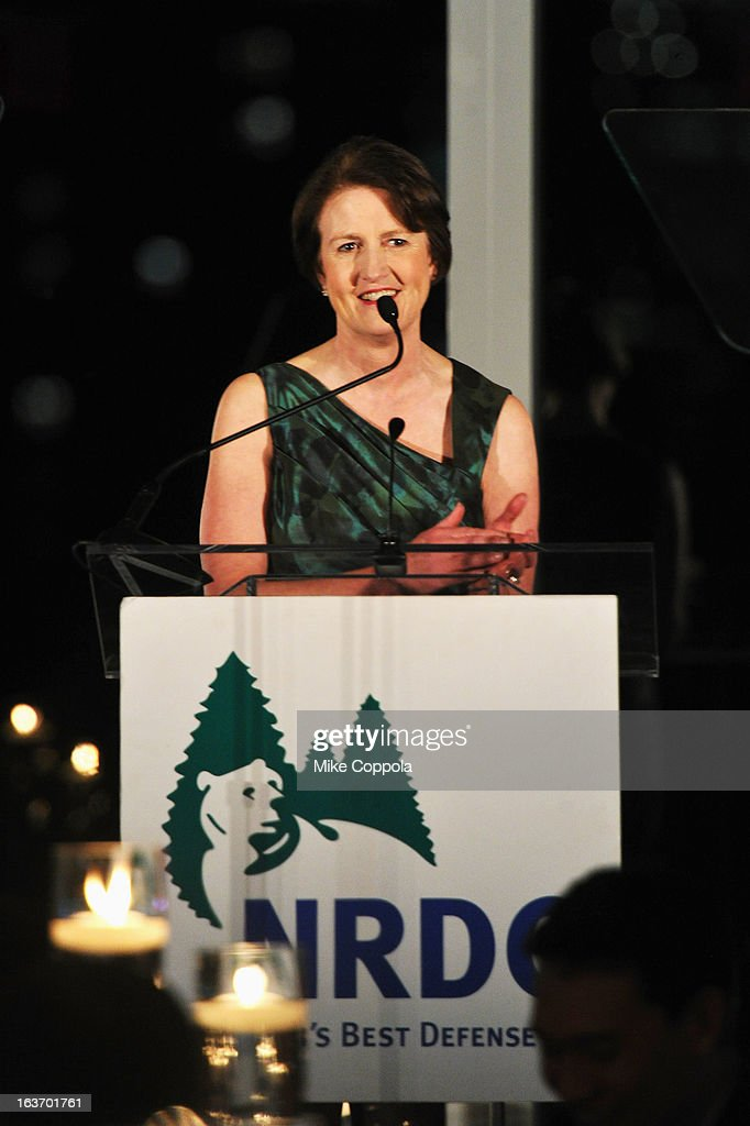 President Frances Beinecke attends the 2013 Natural Resources Defense Council Game Changer Awards at the Mandarin Oriental Hotel on March 14, 2013 in New York City.