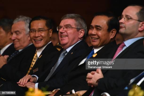 ASOIF President Francesco Ricci Bitti Thai Tourism and Sports Minister Weerasak Kowsurat IOC President Thomas Bach Thai Prime Minister Prayut...