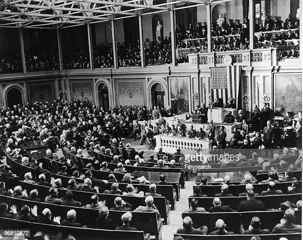 President Franklin D Roosevelt addressing congress December 8 1941