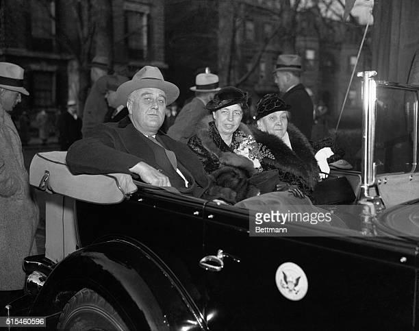 President Franklin D Roosevelt Mrs Franklin D Roosevelt and the President's mother Mrs Franklin D Roosevelt and the President's mother Mrs Sara...