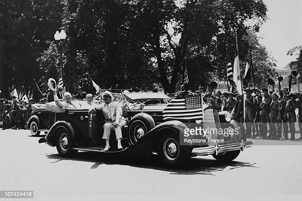 President Franklin Roosevelt At The Scouts National Jamboree In Washington On 1937